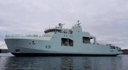 O segundo navio-patrulha do Ártico foi lançado no Canadá