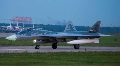 Flugzeug T-50-11 ist in Zhukovsky angekommen