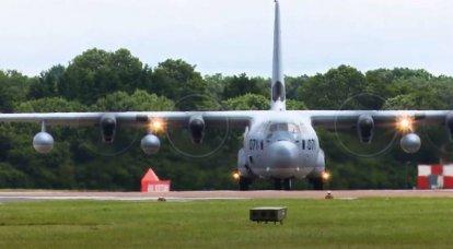 En Estados Unidos mostró el aspecto del petrolero KC-130J luego de una colisión con un F-35 y un aterrizaje de emergencia