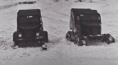 ソビエトスノーモービル車両:60年前のテスト