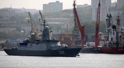 """प्रोजेक्ट 20380 का कार्वेट """"एल्डर त्सेंडेन्हापोव"""" समुद्री परीक्षणों में गया"""
