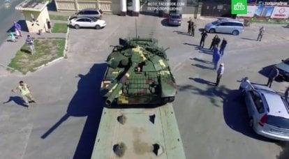 消耗に近いウクライナのソビエトタンク遺産