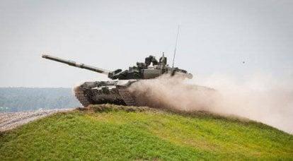 """坦克""""MAKS""""排练的照片报道"""