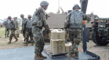 In the United States is testing a new anti-tank mine XM204 the size of a suitcase