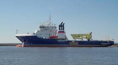 """물류 지원 선박 """"Vsevolod Bobrov""""가 국가 테스트를 완료하고 있습니다."""
