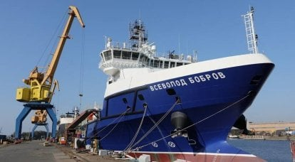 "Terms of sea trials of the logistics support vessel ""Vsevolod Bobrov"""