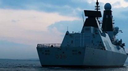 ロシアの巡視船がイギリスの駆逐艦D36ディフェンダーに警告射撃を開始
