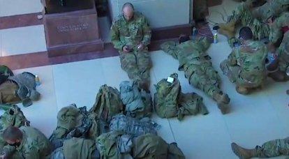 """""""Aspettando un nuovo assalto"""": la Guardia nazionale è rimasta a Washington"""