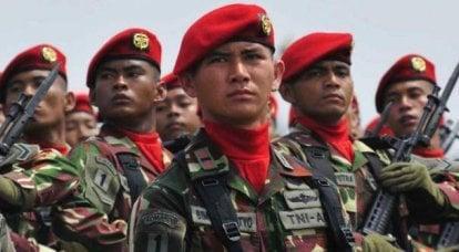 """Endonezya özel kuvvetleri: """"kırmızı bereler"""", """"amfibi"""" ve diğerleri"""