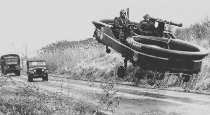 Fliegender Jeep für die amerikanische Armee. Piasecki VZ-8 Airgeep