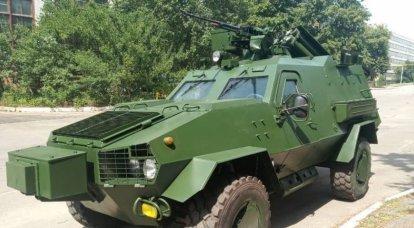 """Um novo sistema leve lança-chamas """"Heat"""" baseado no veículo blindado """"Dozor-B"""" foi desenvolvido na Ucrânia"""