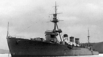 戦闘船。 巡洋艦。 致命的な川が海に流れ込んだ
