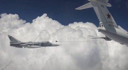 Une vidéo d'un ravitaillement en carburant Su-30SM et Su-24 sur la Crimée est apparue sur le Web