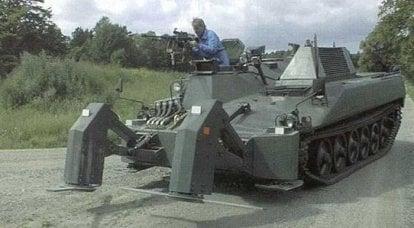 基于Ikv 91坦克的装甲排雷车的草案(瑞典)