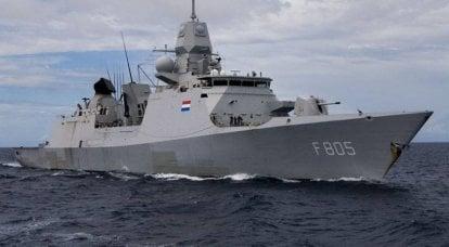 英国用荷兰皇家海军的护卫舰加强了前往黑海的一群船只