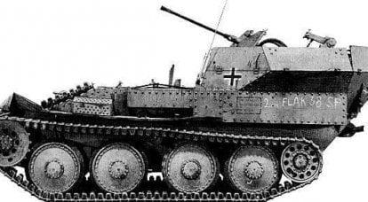 自走式高射炮安装Sd.Kfz.140(Flakpanzer 38(t))