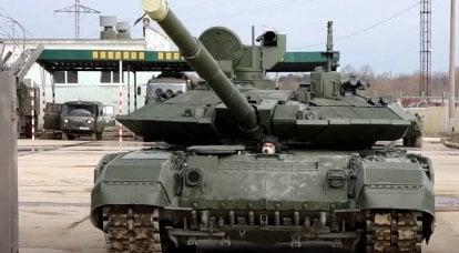 """Savunma Bakanlığına teslim edilen yeni bir modernize T-90M """"Proryv"""" tankı grubu"""