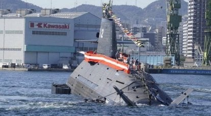 The last in the series of diesel-electric submarines of the Soryu class for the country's Navy launched in Japan