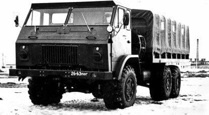 戦闘KrAZ-214と最初のキャブオーバー実験