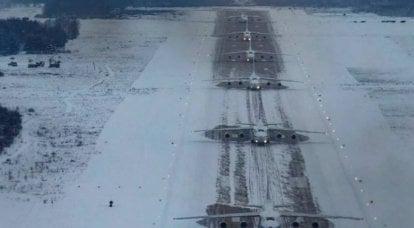 Las Fuerzas Aeroespaciales Rusas completaron el despegue simultáneo de seis aviones de transporte militar An-124-100 Ruslan