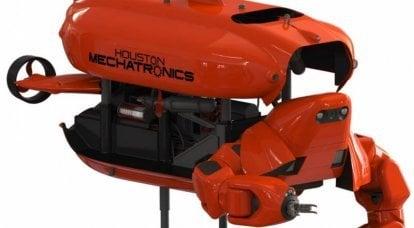 休斯顿机电一体化公司正在开发一种水下机器人,可以在没有升降索的情况下在极深的地方工作。