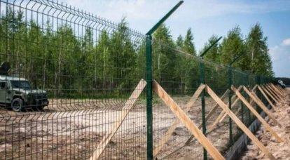 """Der Staatsgrenzdienst der Ukraine berichtete über den Bau der """"Mauer von Yatsenyuk"""""""