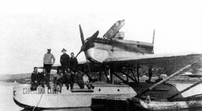 """Kampfflugzeug. Deutscher """"Wal"""", der Eroberer des russischen Nordens"""