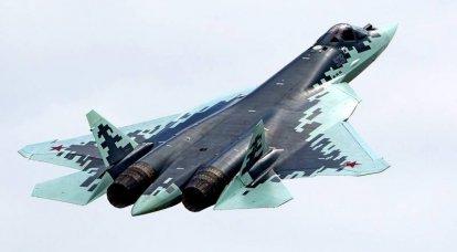 Beşinci neslin Su-57 savaşçısı. İnfografikler
