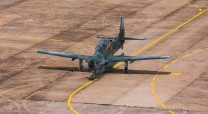 El entrenador de combate A-29A Super Tucano se estrella en Brasil