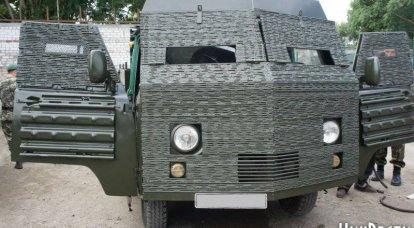 """新乌克兰装甲车:""""技术""""和医疗机器"""