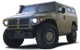 """警察里约热内卢移交了测试GAZ-2330""""虎""""装甲车"""