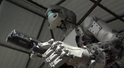 """Reemplazo de """"mano de obra"""": robots de combate"""