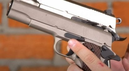 Traumatic version of the famous American Colt 1911 pistol: features and practical shooting
