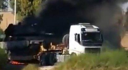 这些版本表达了在加沙地带边界附近以色列坦克Merkava造成车辆平台起火的原因。