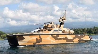 Armored boat X18 Tank Boat went to test
