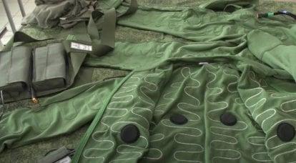Das Verteidigungsministerium zeigte Tests einer neuen Armeeausrüstung mit elektrischer Heizung