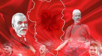 """अल्बानियाई में """"शीत युद्ध""""। अल्बानियाई राष्ट्रवादी, कोसोवो में युद्ध की तैयारी के लिए एनवर होक्सा के खिलाफ लड़ाई से"""