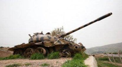 イラククルディスタンの山の中のサダムタンク