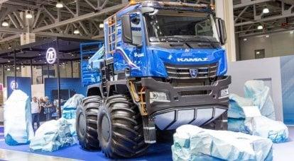 テストと生産の前夜に北極トラックKamAZ-6355