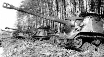Sovyet 122 mm kendinden tahrikli topçu takozlarının tanksavar yetenekleri