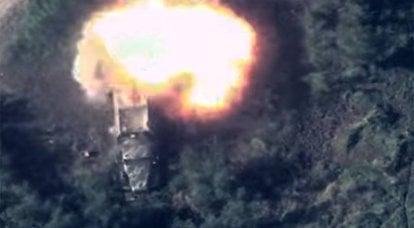 아제르바이잔은 분쟁 지역에서 적의 중장비 파괴를 보여주었습니다