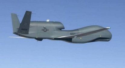Die amerikanische Drohne RQ-4B Global Hawk führte eine Aufklärung eines geschlossenen Gebiets in der Nähe der Krim durch
