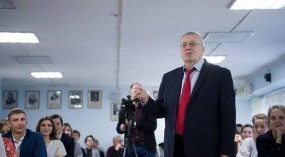 """日里诺夫斯基:""""卢卡申卡政权已经完全筋疲力尽了"""""""