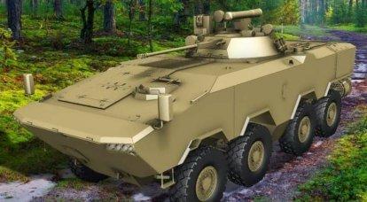 मिन्स्क ने एक नए घरेलू बख्तरबंद कार्मिक वाहक BTR-V2 8X8 . के प्रदर्शन की घोषणा की