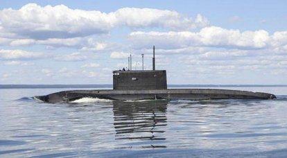 "Submarino diesel-elétrico ""Veliky Novgorod"" concluído conserto de doca"