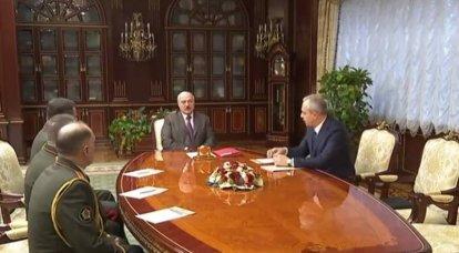 Lukaschenko trat die Nachfolge des belarussischen Verteidigungsministers und anderer Sicherheitskräfte an