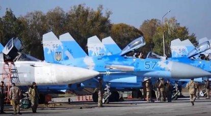 Na Ucrânia: Su-27 terá que comprar pára-quedas de freio russo
