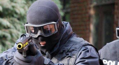 Polis paintball için tabancalar. 1'in bir parçası