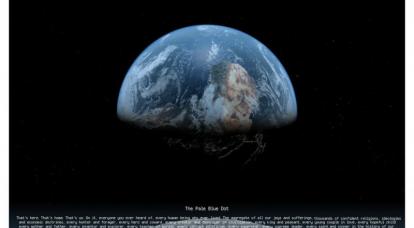 Foto della Terra da una distanza 6 miliardi di chilometri