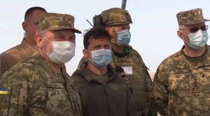 Lors des exercices des forces armées de l'Ukraine ATGM Javelin, lors de la manifestation à Zelensky, raté